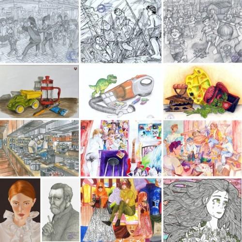 Bimbel Gambar online seni rupa desain Galeri Karya Siswa