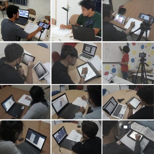 Bimbel Gambar online seni rupa desain Bimbel Gambar Online Villa Merah