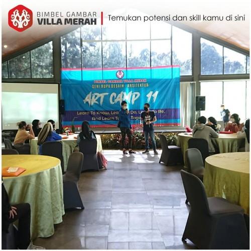 Bimbel Gambar online seni rupa desain Art Camp Ke 11 Villa  Merah